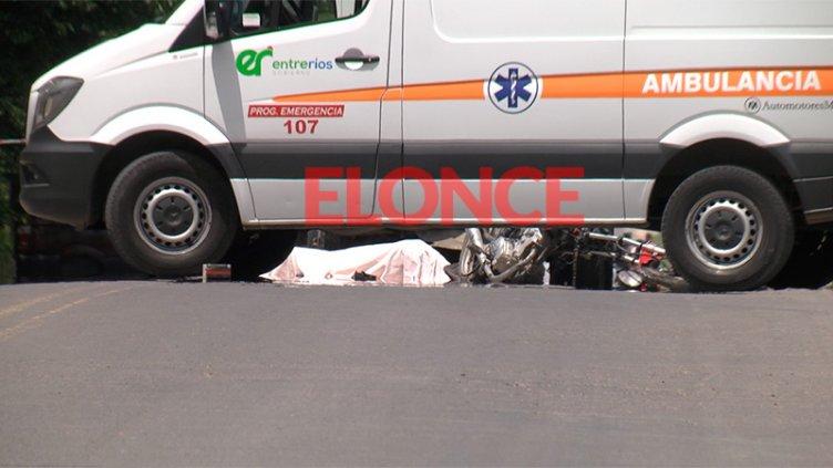 Choque en avenida Zanni: Identificaron al motociclista y demoraron al camionero