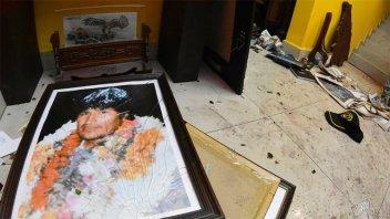 Denuncian el saqueo de la residencia de Evo Morales y de sus exministros