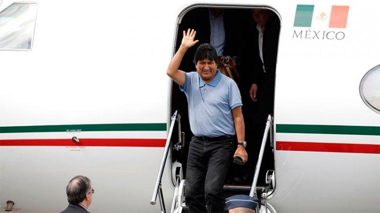 Evo Morales llegó a México en condición de asilado político