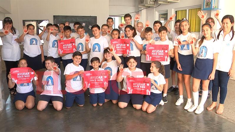 Ayudar hace bien: La Escuela Santa Ana se suma a Once por Todos - Paraná - Elonce.com