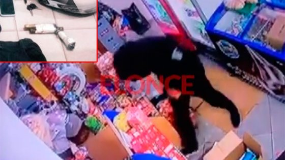 Video: Intentó asaltar un kiosco con un arma falsa en Paraná y quedó filmado