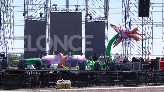 Cómo será la escenografía del escenario principal de la Fiesta de Disfraces