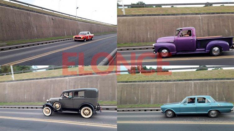 Fotos: Con una caravana de autos de época reeditaron la inauguración del Túnel