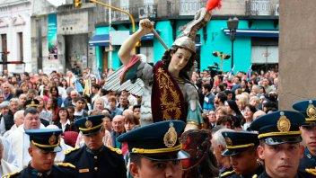 Fieles celebraron el Día de San Miguel Arcángel, patrono de Entre Ríos