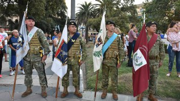 Homenaje por los 200 años de la Batalla de Maipú en Paraná