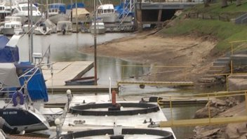 La bajante del río Paraná en el Puerto, en Bajada Grande y en el Club Náutico