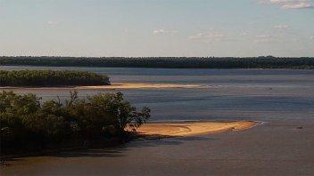 El río Paraná en 1,30 metros: Así se ve la histórica bajante en la costa