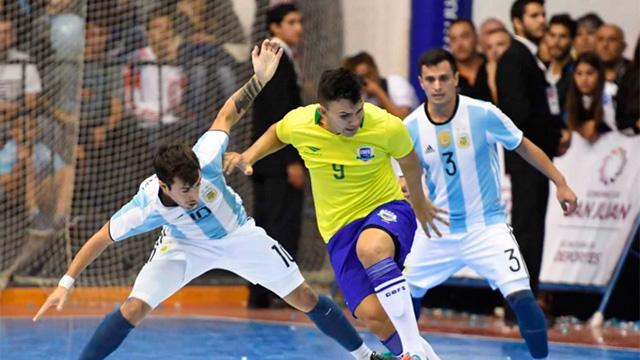 Brasil derrotó a Argentina y se quedó con la Copa América de Futsal.