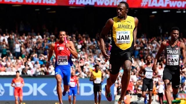 Bolt clasificó a Jamaica a la final de la posta 4x100.