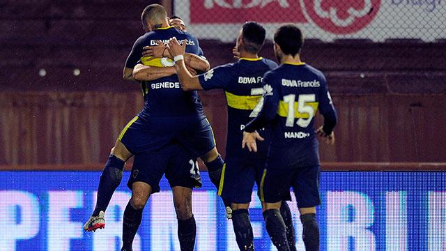 Benedetto le dio la victoria a Boca ante Lanús.