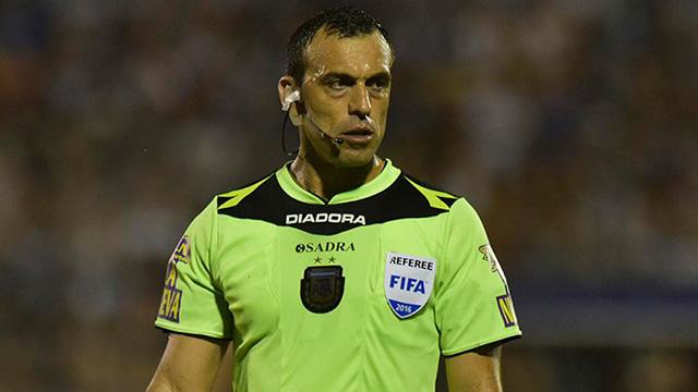 Jorge Baliño será el árbitro para el partido del lunes a las 19 en el Grella.