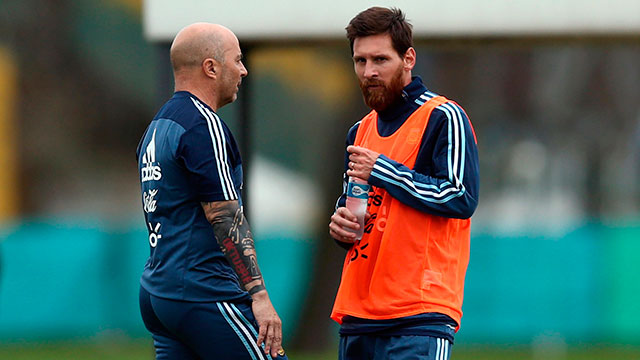 Sampaoli, sobre Messi:
