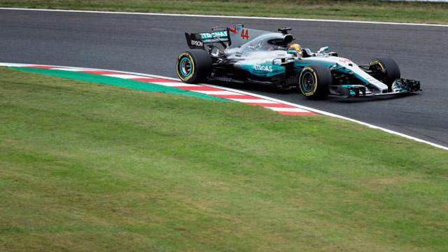 Hamilton marcó récord en el circuito de Suzuka y llegó al pole 10° en el año.