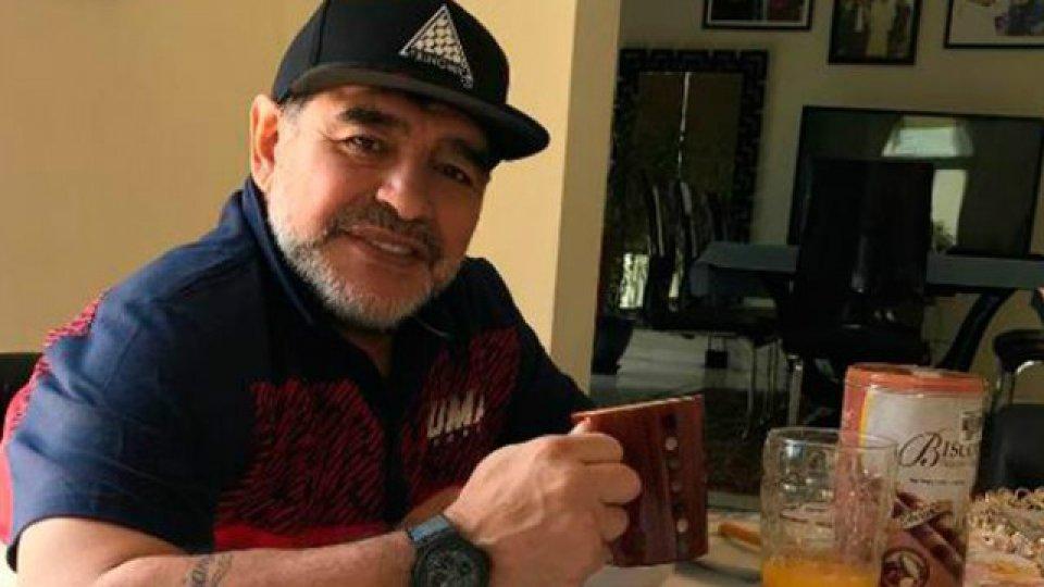 Maradona festejo la clasificación de la albiceleste a Rusia 2018.