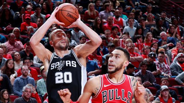 NBA: San Antonio Spurs, con Ginóbili, logró su segundo triunfo ante Chicago Bulls