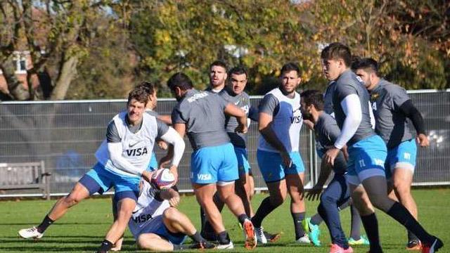 Los Pumas se preparan para enfrentar a Italia.