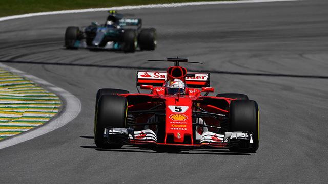 Vettel ganó en Brasil.