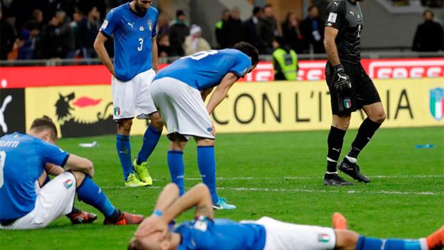 Italia no pudo con Suecia y quedó sin Mundial después de 60 años.