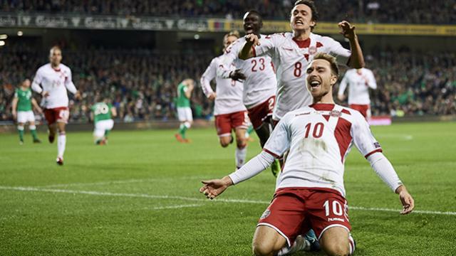 Eriksen fue el héroe de Dinamarca con un triplete. (Foto: www.tycsports.com)