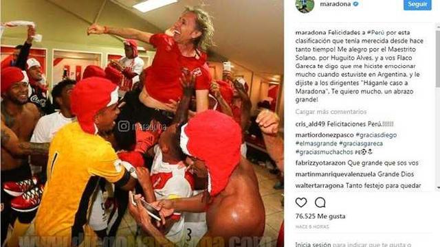 """""""Perú merecía está clasificación desde hace tanto tiempo"""", señaló Diego."""