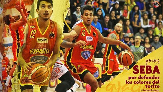 ARCHIVO: Sebastián Godoy jugando en Centro Español de Neuquén.