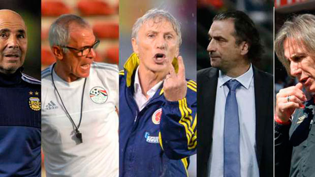 No hubo triunfos para los directores técnicos argentinos en su debut mundialista