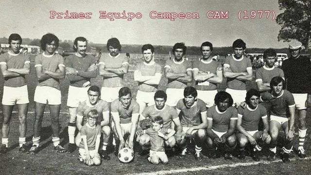 Plantel Atlético Maciá Campeón Liga Departamental Tala 1977.