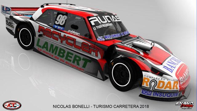 Los Bonelli encararán otra temporada de TC, esta vez con un Chevrolet y Ford.