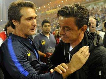 Barros Schelotto restó importancia a la derrota y Gallardo se mostró