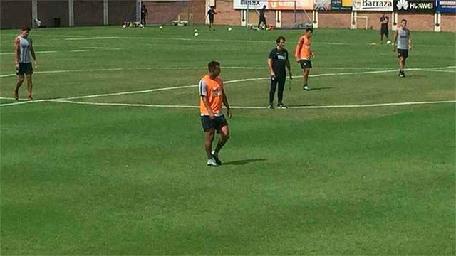 Fabra, Cardona y Barrios volvieron a entrenarse con el plantel de Boca