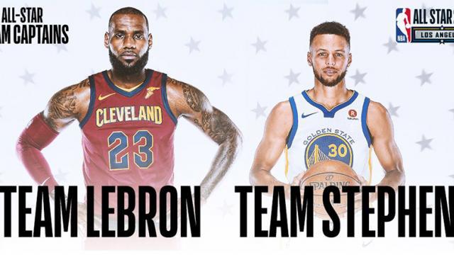LeBron James y Stephen Curry eligieron sus equipo para el All Star Game 2018.