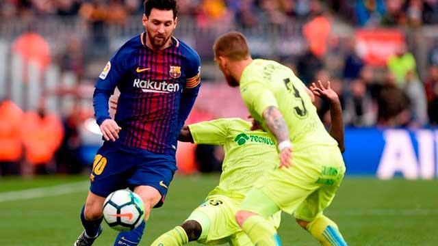 Lionel Messi fue titular en Barcelona, que sólo consiguió un empate.