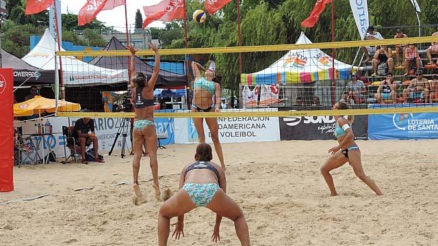 El Beach Volley se presentó en Rosario.