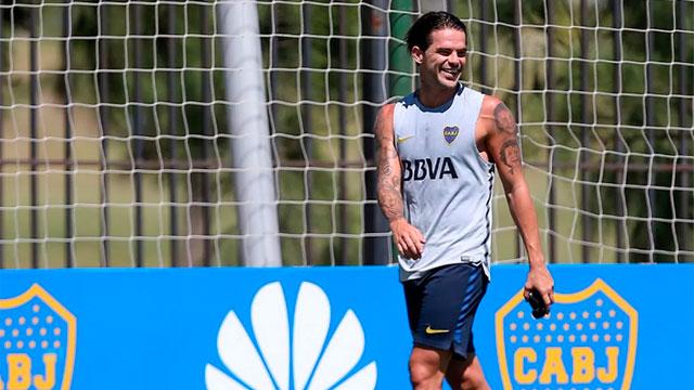 Fernando Gago volvió a entrenarse y su vuelta está más cerca.