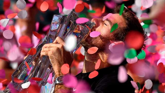 Juan Martín Del Potro derrotó a Roger Federer y se coronó campeón en Indian Wells