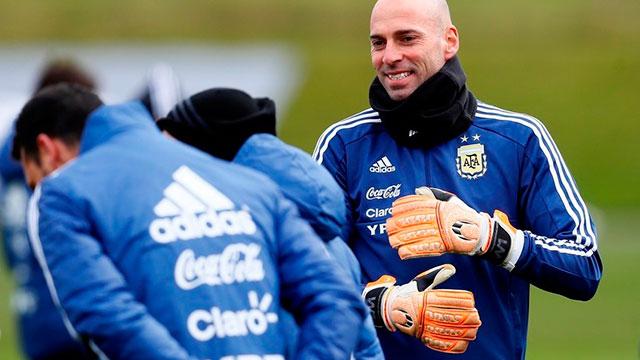 Selección Argentina: El entrerriano Wilfredo Caballero podría atajar ante Italia