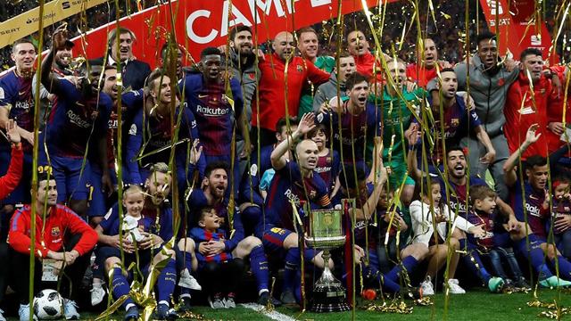 Barcelona aplastó a Sevilla y se coronó campeón de la Copa del Rey