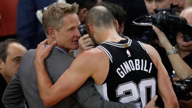 El emotivo diálogo entre Ginóbili y Kerr, su excompañero.