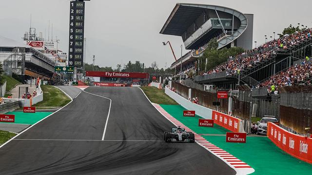 Hamilton hizo la pole en España.