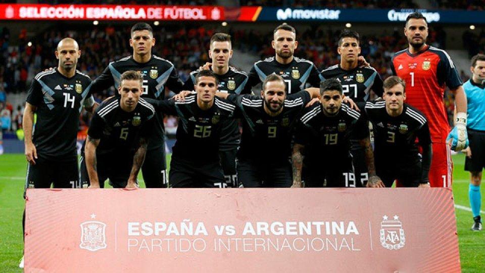 La Selección Argentina usará la camiseta negra.