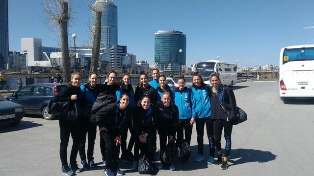 Las chicas de la Selección Argentina llegaron a Rusia.