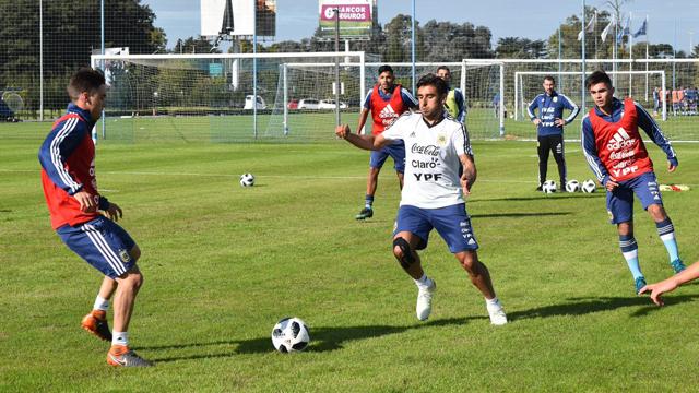 La Selección de Sampaoli comenzó a trabajar en Ezeiza.