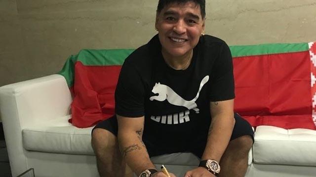 Diego Maradona celebró su primer título como Presidente del Dinamo Brest