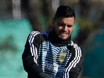 Sergio Romero, en el momento de la lesión: