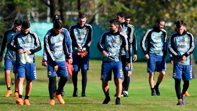 La Selección entrenó con plantel completo: el equipo que paró Sampaoli
