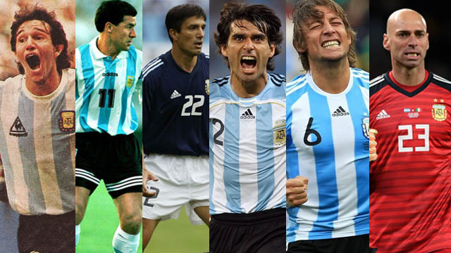 Burru, Mencho, Flaco, Ratón, Sonri y Willy, los entrerrianos en los mundiales.