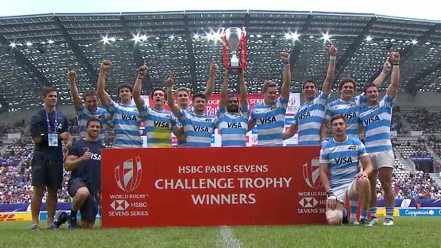 Los Pumas 7s se quedaron con la Copa de Bronce luego de vencer a Gales.