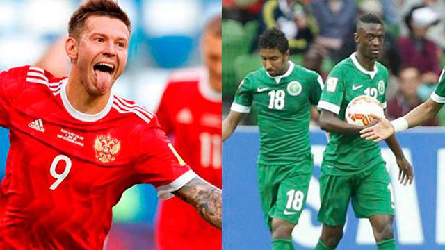Rusia y Arabia Saudita juegan el partido inaugural de la Copa del Mundo.