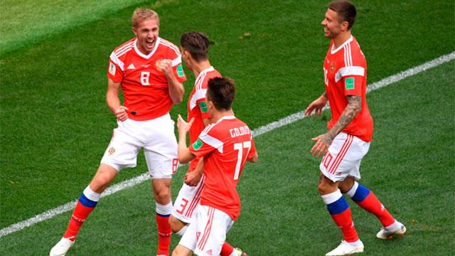 Rusia goleó 5-0 a Arabia Saudita en el primer partido del Mundial 2018.