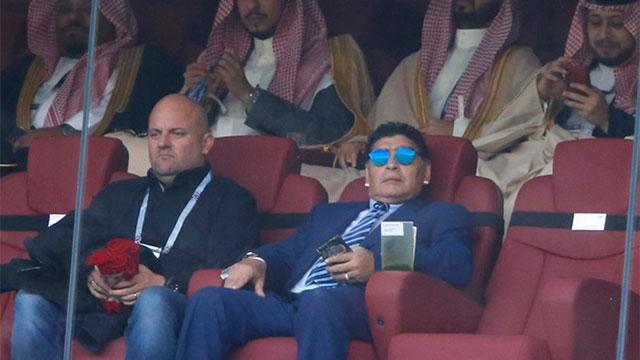 Maradona, presente en la ceremonia de apertura.